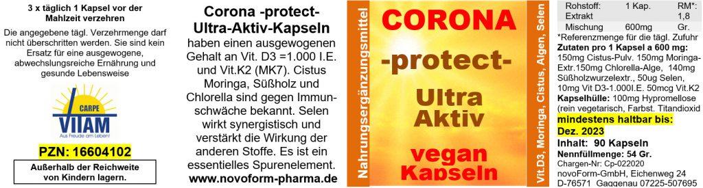 Coronavirus Schutz Präparat